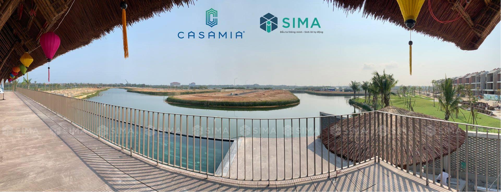 Tổng quan view từ Clubhouse ra lối biệt thự và sinh thái Casamia Hội An