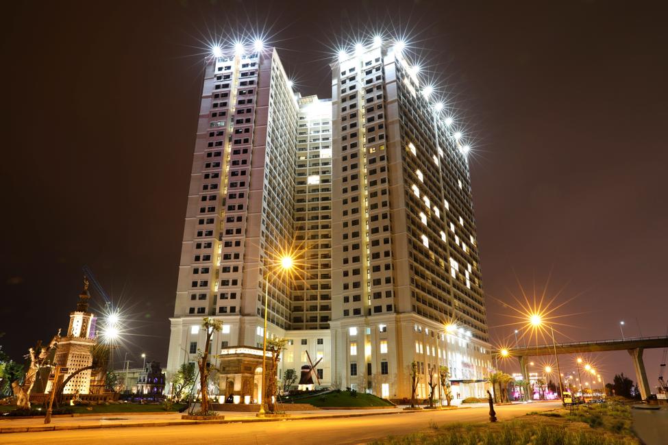 Hình ảnh thực tế chuỗi căn hộ khách sạn Hòa Bình Green Đà Nẵng (Da Nang Golden Bay)