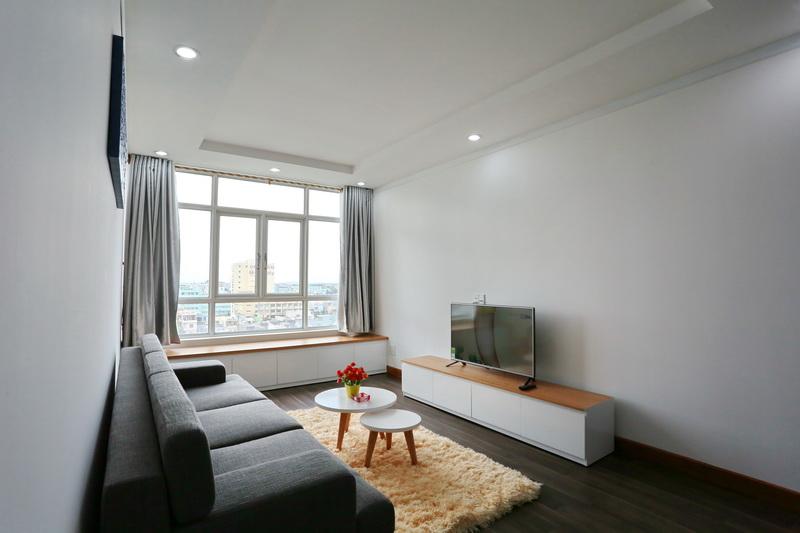 Cho thuê căn hộ thuộc  Dự án căn hộ chung cư Hoàng Anh - Bàu Thạc Gián Đà Nẵng, 2 phòng ngủ, 15.5 triệu/tháng