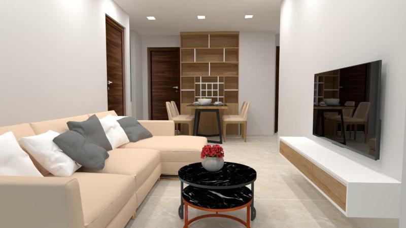 Cần bán căn hộ, 2 phòng ngủ, 2.7 tỷ