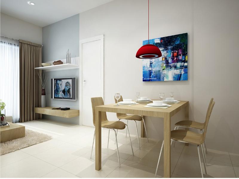Cho thuê căn hộ, 1 phòng ngủ, 5.5 triệu/tháng