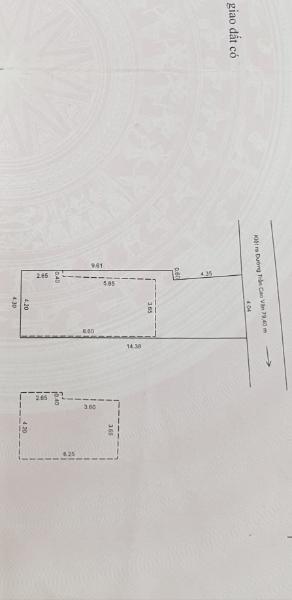 Cần bán nhà trong kiệt rộng 2m đường Trần Cao Vân , 60m<sup>2</sup>, 2 tầng, 3 phòng ngủ, 2.6 tỷ